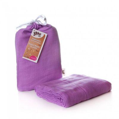 KIKKO Bambusowy otulacz Colours 120x120 (1 szt.) – lilac