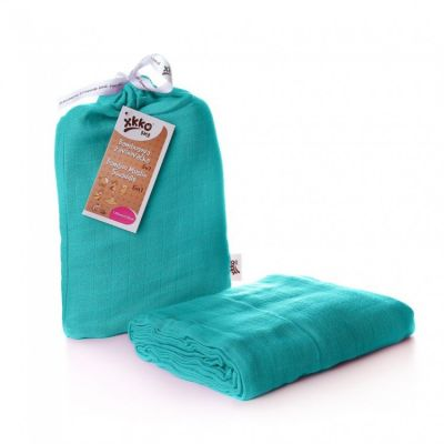 KIKKO Bambusowy otulacz Colours 120x120 (1 szt.) – turquoise
