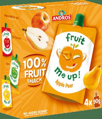 4x FRUIT ME UP! Ovocné pyré jablko - hruška 90g