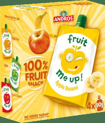4x FRUIT ME UP! Ovocné pyré jablko - banán 90g