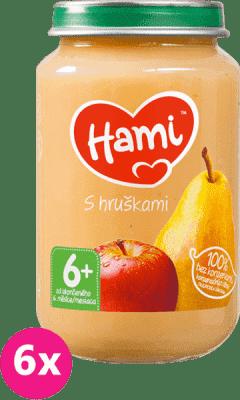 6x HAMI S hruškami (200 g) - ovocný příkrm
