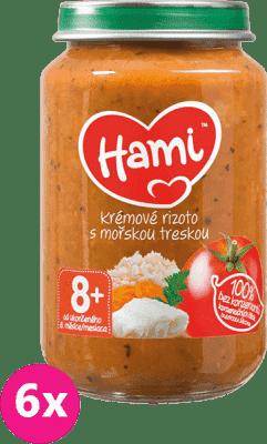 6x HAMI Rajčata s treskou a rýží (200 g) - maso-zeleninový příkrm