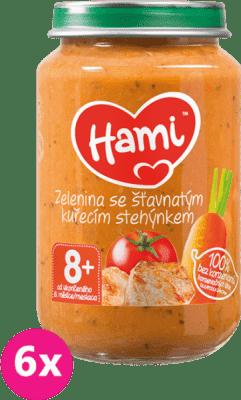 6x HAMI Brambory s rajčaty a kuřetem (200 g) - maso-zeleninový příkrm