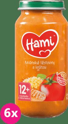 6x HAMI Milánské těstoviny s krůtou (250 g) - maso-zeleninový příkrm