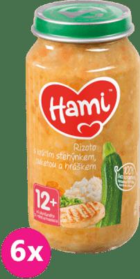 6 x HAMI Rizoto s krůtím stehýnkem, cuketou a hráškem (250 g) - maso-zeleninový příkrm