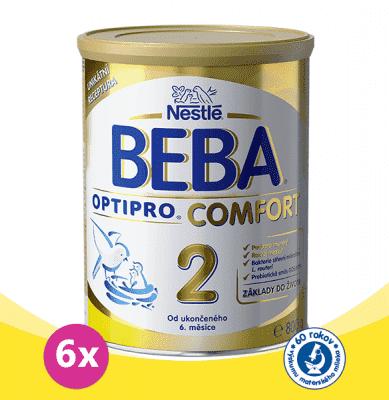 6x NESTLÉ BEBA OPTIPRO Comfort 2 (800 g) - dojčenské mlieko