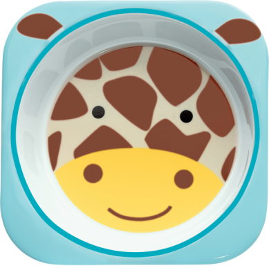 SKIP HOP Zoo Miska melaminová Žirafa 6 m+