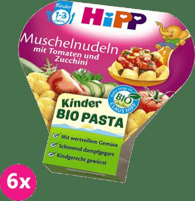 6x HIPP BIO Těstoviny s rajčaty a cuketou (250 g)