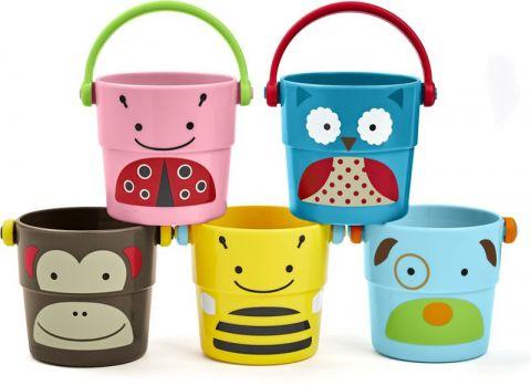 SKIP HOP Zoo hračka do vody Sada kbelíků 9 m+