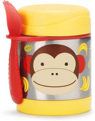 SKIP HOP Zoo Termoska na jedlo s vidličkou - Opička  f4d76fb735a