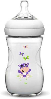 AVENT Dojčenská fľaša Natural 1m+, 260 ml hroch, 1 ks