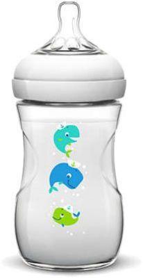AVENT Dojčenská fľaša Natural 1m+, 260 ml veľryba, 1 ks