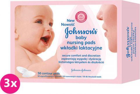 3x JOHNSON'S BABY Prsní vložky (50 ks)