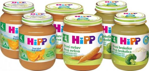 HIPP BIO Balíček prvních zeleninových příkrmů (6 x 125 g) - mrkev, dýně, brokolice