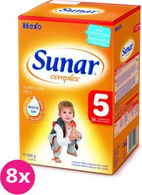 8x SUNAR Complex 5 (600 g) - dojčenské mlieko