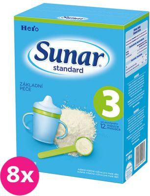 8x SUNAR Standard 3 (500g) - kojenecké mléko