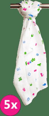 FEEDO látkové pleny, 100% bavlna, 5 ks, 70x70 cm