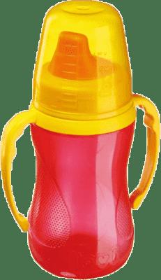 LOVI Nekvapkajúci hrnček 250ml 12 + m – červený