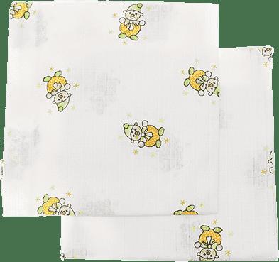 Libštátské pleny Detská bavlnená plienka / osuška, 90x100 cm, potlač, 2 ks, Klaun