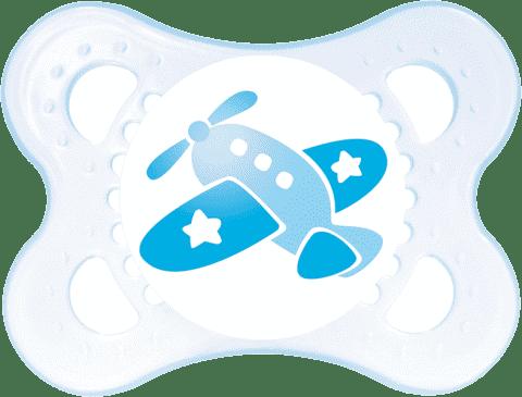 MAM Dudlík Nature 0-6 měsíců, silikon, kluk – náhodný motiv