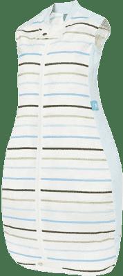 ERGOPOUCH Organic/Bamboo - Spací pytel Organic Cotton Blue Stripe 2-12m