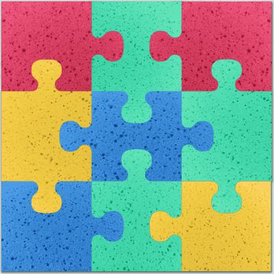 OSMOST Molitanová podložka 9ks - Puzzle