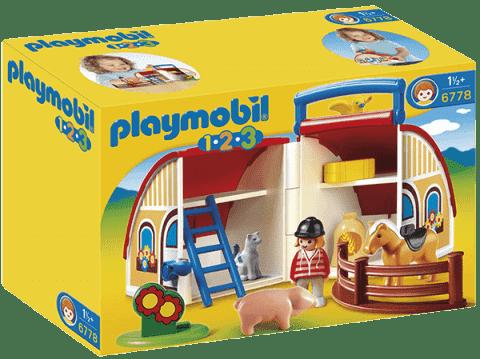 PLAYMOBIL Prenosná stodola (1.2.3)