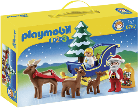 PLAYMOBIL Santa Claus na saních (1.2.3)