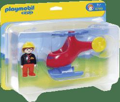 PLAYMOBIL Požární helikoptéra (1.2.3)
