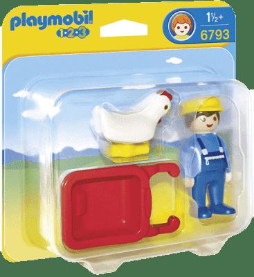 PLAYMOBIL Farmář s kolečkem (1.2.3.)