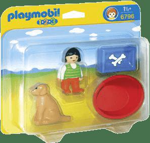 PLAYMOBIL Dievčatko so psíkom (1.2.3.)