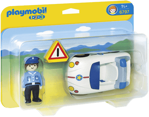 PLAYMOBIL Policejní autíčko (1.2.3.)