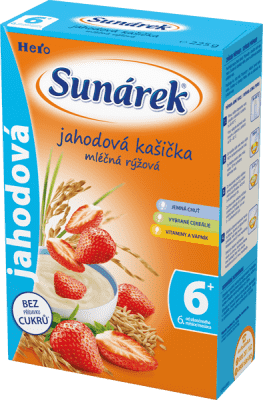 SUNÁREK Jahodová kašička (225 g) - mliečna kaša