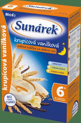 SUNÁREK Krupicová kašička s vanilkou na dobrú noc (225 g) - mliečna kaša