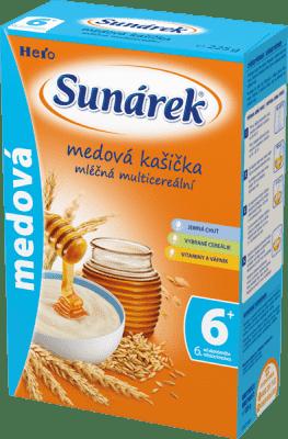 SUNÁREK Medová kašička (225 g) - mléčná kaše
