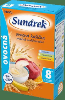SUNÁREK Ovocná kašička (225 g) - mléčná kaše