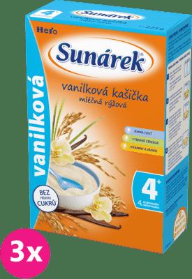 3x SUNÁREK Vanilková kašička (225 g) - mléčná kaše