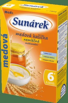 SUNÁREK Medová s 8 cereáliami (180 g) - nemliečna kaša