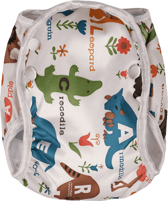 T-TOMI Plienkové plavky, biele safari, veľ. S