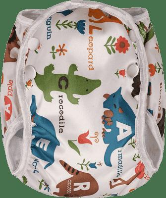 T-TOMI Plavky plenkové, bílá safari, vel. S (5-8 kg)