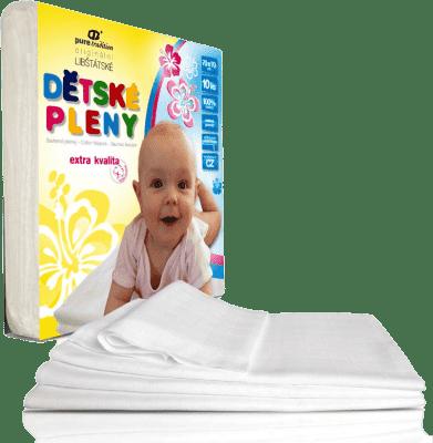 Libštátské pleny Detská bavlnená plienka Extra kvality, 70x70 cm, biela, 10 ks