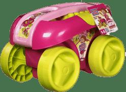MEGA BLOKS Vozík s kockami, ružová farba