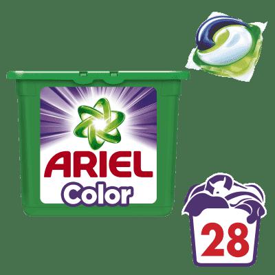 ARIEL Color 3v1 (28 ks) – gélové pracie kapsuly