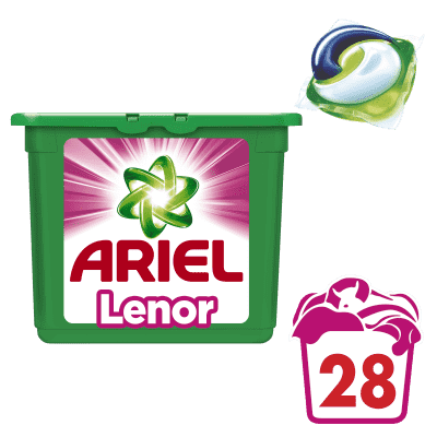 ARIEL Touch of Lenor Fresh 3v1 (28ks) – gélové pracie kapsuly