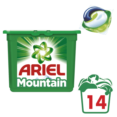 ARIEL Mountain Spring All in 1 Gelové Kapsle - 14 praní