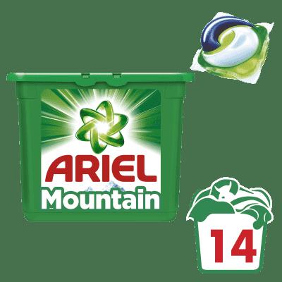 ARIEL Mountain Spring All in 1 (14 ks) – gélové pracie kapsuly