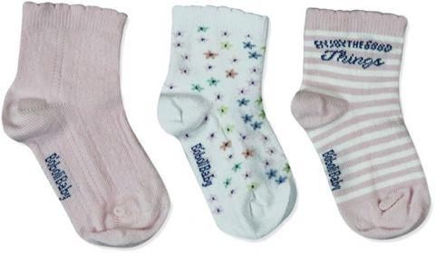 BOBOLI Ponožky 3 ks v balení, veľ. 19/21 - ružová, dievčatko