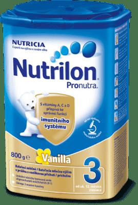 NUTRILON 3 ProNutra s príchuťou vanilky (800g) - dojčenské mlieko