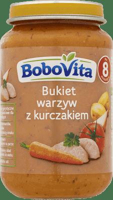 BOBOVITA Bukiet warzyw z kurczakiem 8m+ (190 g)