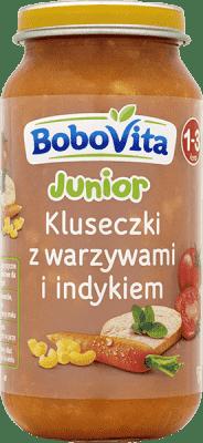 BOBOVITA Kluseczki z warzywami i indykiem (250g)